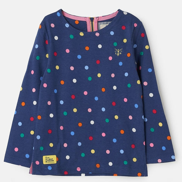 Lighthouse Kids Causeway long sleeve tee - Dot print