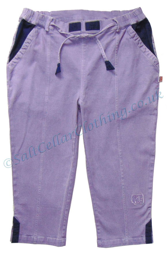 Deal Clothing Womens AS76 Capri Trousers / Cut Offs - Lilac Purple