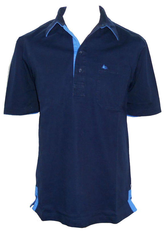 Dock of the Bay Mens 'Kobus' Short Sleeved Shirt - Navy