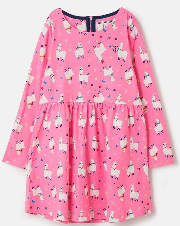 Lighthouse Kids Ellie Dress - Llama Print