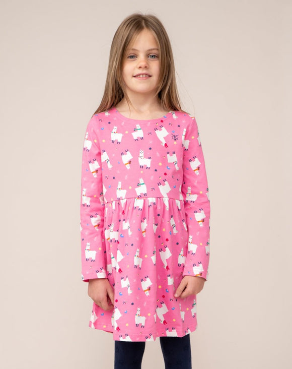 Lighthouse Kids 'Ellie' Dress - Llama Print