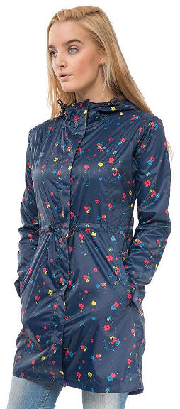 Lighthouse Womens 'Cara' Raincoat - Night Sky Floral