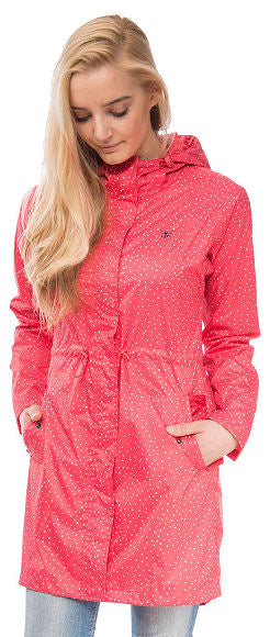 Lighthouse Womens 'Cara' Raincoat - Watermelon Polka Dot