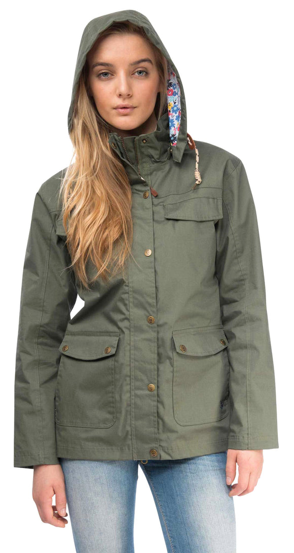 Lighthouse Womens 'Romy' Raincoat - Willow Green