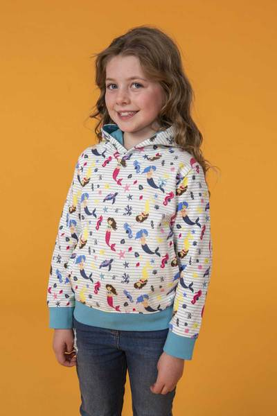 Lighthouse Kids Lily Hoodie - Mermaid Print