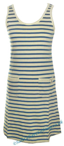 Mousqueton Womens 'Tela' Stripy Dress - Cream / Blue