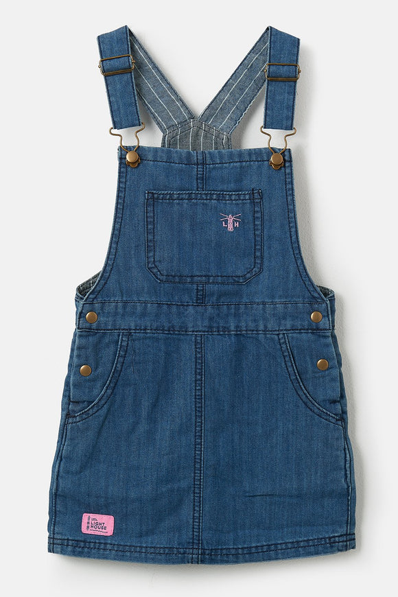 Lighthouse Kids Maisie Pinafore - Washed Denim