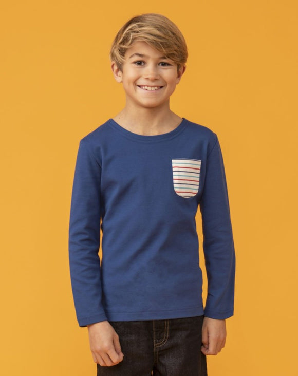 Lighthouse Kids Noah long sleeve tee - Pacific Line Marl