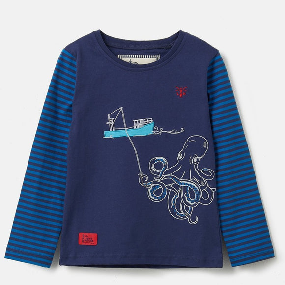 Lighthouse Kids Oliver long sleeve tee - Boat Octopus