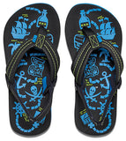 Reef Kids 'Ahi Glow' Glow in the Dark Flip Flops - Blue / Black