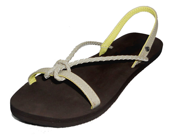 Reef Womens 'Knots and Bolts' Sandals - Brown / Grey / Yellow