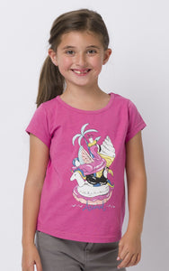 Animal Kids 'Inflatables' Printed Tee - Pink