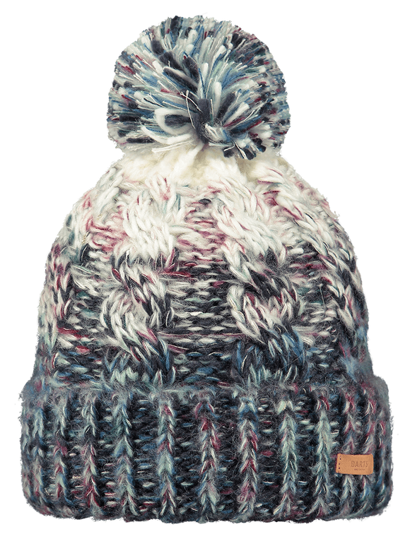 Barts Adults 'Iska' Stripy Knitted Beanie - Blue
