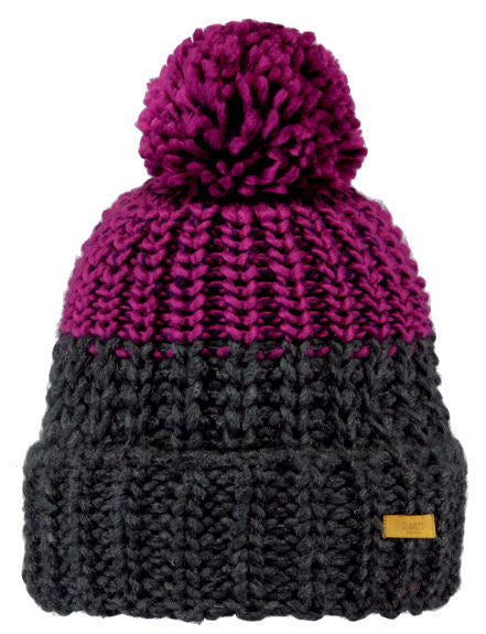 Barts Adults 'Jorke' Knitted Beanie - Dark Heather / Purple