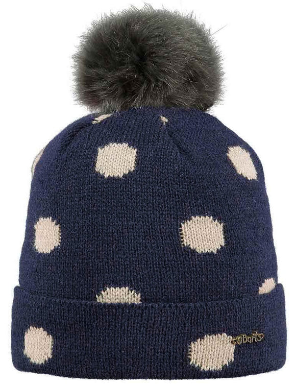 Barts Kids 'Sweet' Dotty Knitted Beanie - Navy