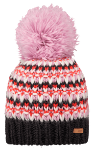 Barts Adults 'Melapie' Stripy Knitted Beanie - Orchid Pink