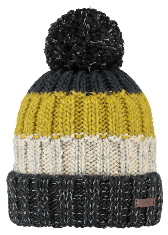 Barts Adults 'Wilhelm' Striped Knitted Beanie - Yellow