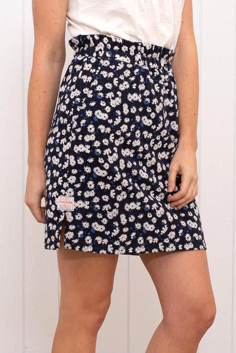 Brakeburn Womens 'Aster Daisy' Skirt - Navy