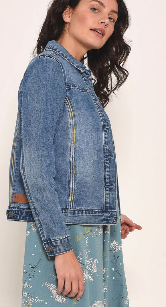 Brakeburn Womens Denim Jacket - Blue