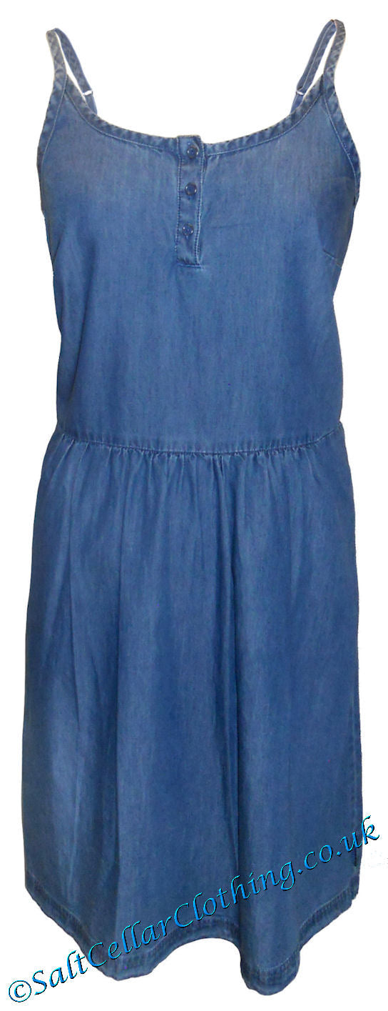 Captain Corsaire Womens 'Ambroisine' Sleeveless Dress - Denim Blue