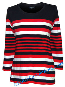 Captain Corsaire Womens 'Grace' Stripy Top - Navy / Red / White