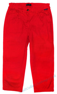 Captain Corsaire Womens 'Bogota' Cut Off Trousers / Capri Pants - Red