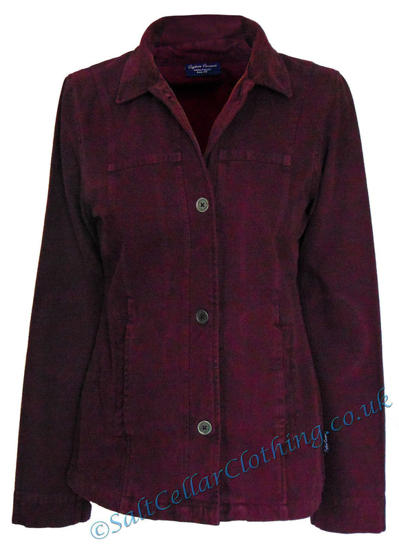 Captain Corsaire Womens 'Katrine' Canvas Jacket - Aubergine