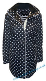 Captain Corsaire Womens 'Regate Ete' Raincoat - Navy Polka Dot