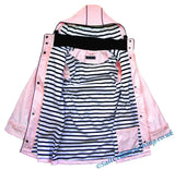 Captain Corsaire Womens 'Regate Ete' Stripy Lined Raincoat - Pale Pink