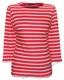Captain Corsaire Womens 'Fregate' Breton Top - Bisque Red / White