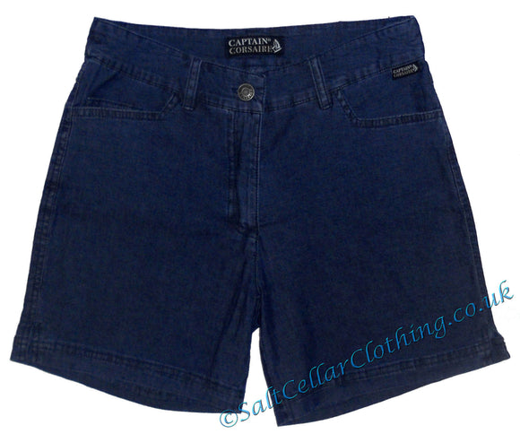Captain Corsaire Womens 'Cuba' Shorts - Denim Blue