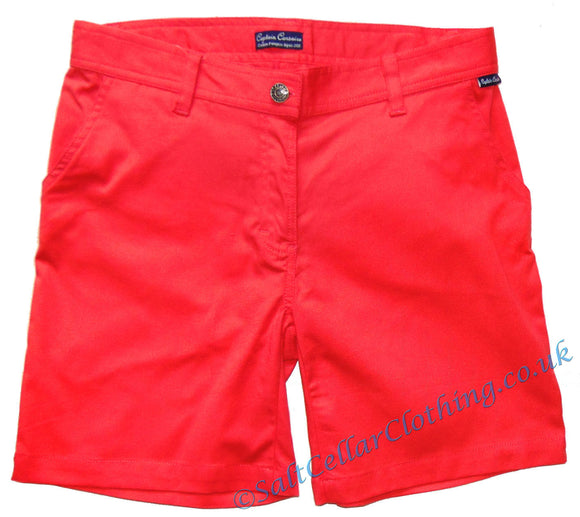 Captain Corsaire Womens 'Honorata' Shorts - Coral / Red