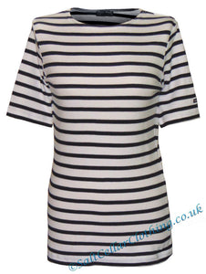 Captain Corsaire Womens 'Fregate MC' Striped Breton Tee - White / Navy