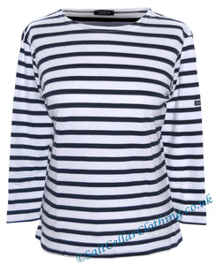 Captain Corsaire Womens 'Fregate' Breton Top - White / Navy