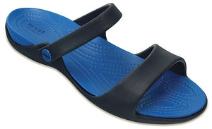 Crocs Womens 'Cleo V' Sandals - Navy / Ultramarine