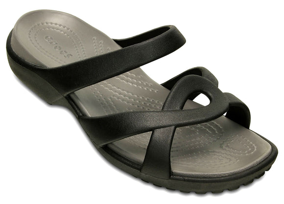Crocs Womens 'Meleen Twist' Sandals - Black / Smoke