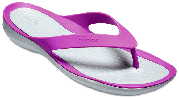 Crocs Womens 'Swiftwater' Flip Flops - Amethyst Purple / Grey