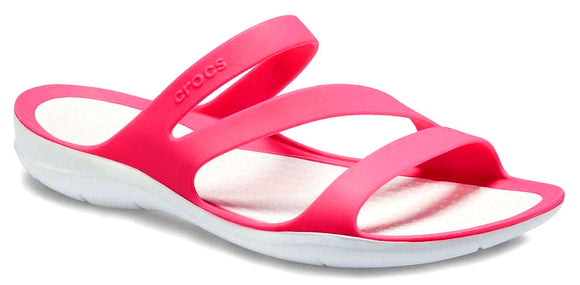 Crocs Womens 'Swiftwater' Sandals - Paradise Pink / White