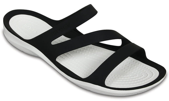 Crocs Womens 'Swiftwater' Sandals - Black / White