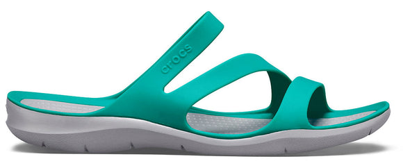 Crocs Womens 'Swiftwater' Sandals - Tropical Teal / Light Grey