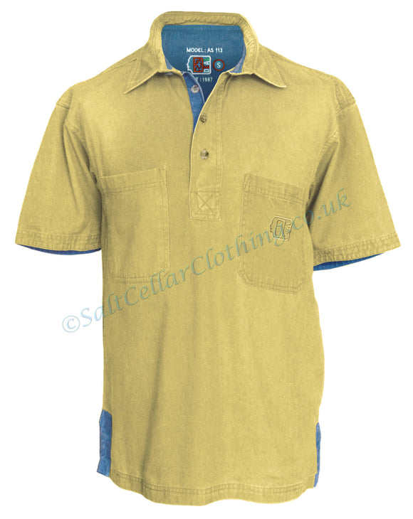 Deal Clothing Mens 'AS113' Short-Sleeved Pullover Shirt - Sand