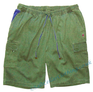Deal Clothing Mens 'AS125 - BIG' Cargo Shorts - Olive Green