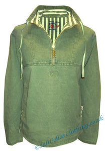 Deal Clothing Mens 'AS240' 1/4 Zip Fisherman Smock - Olive Green