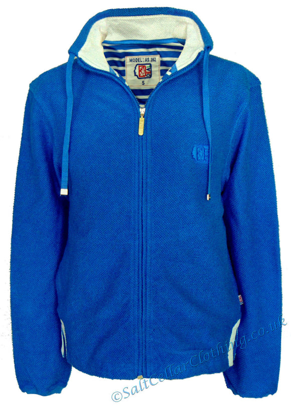Deal Clothing Mens 'AS352' Honeycomb Knitted Jacket - Royal Blue