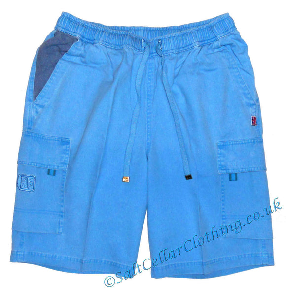 Deal Clothing Mens 'AS125' Cargo Shorts - Sky Blue