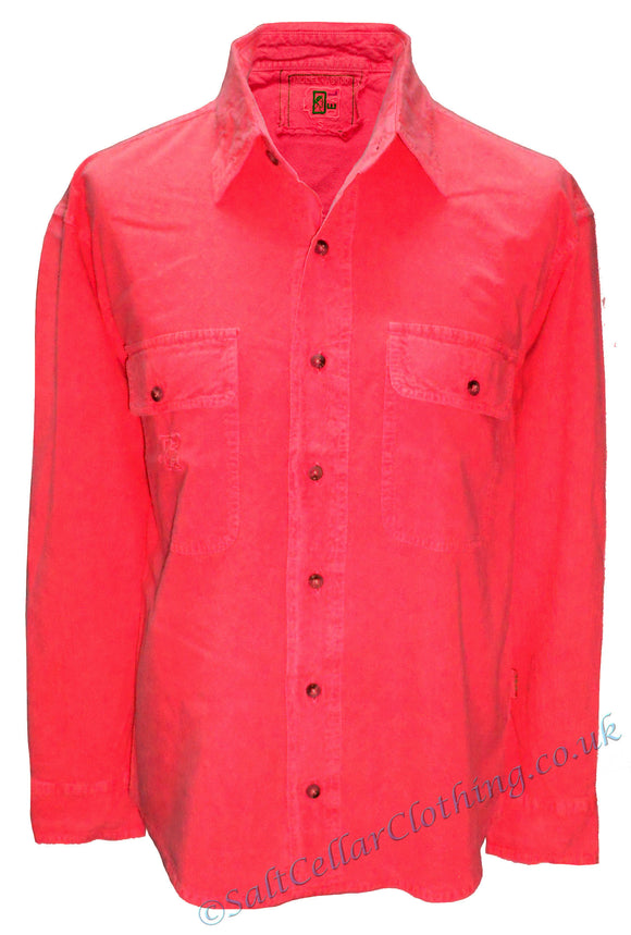Deal Clothing Mens 'AS100' Long-Sleeved Shirt - Red