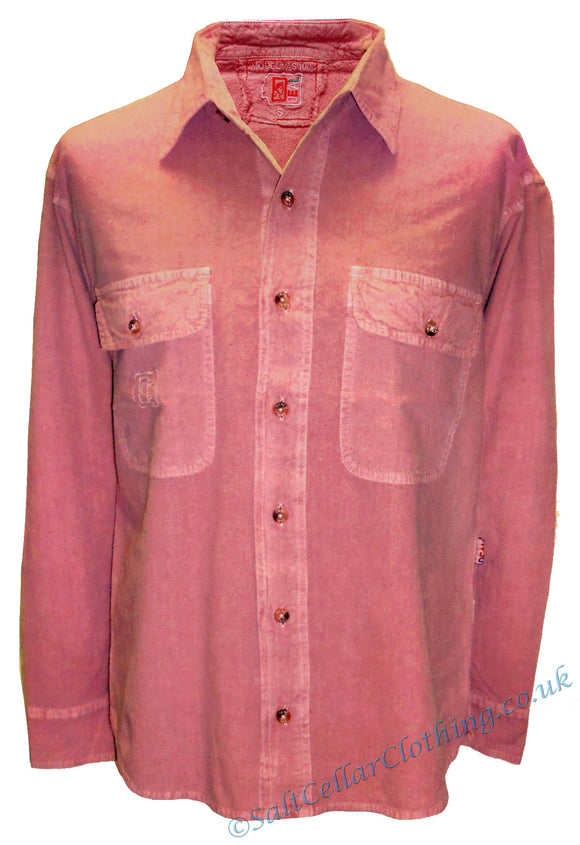 Deal Clothing Mens 'AS100' Long-Sleeved Shirt - Salmon Pink