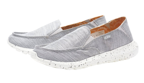 Dude Womens 'Ava' Slip On Canvas Shoes - Chambray Grey
