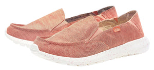 Dude Womens 'Ava' Slip On Canvas Shoes - Chambray Antique Rose