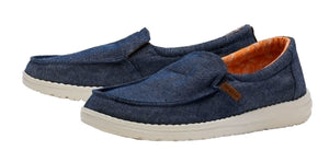 Dude Womens 'Misty' Slip On Canvas Shoes - Navy